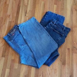 Wrangler mens boot cut jeans.